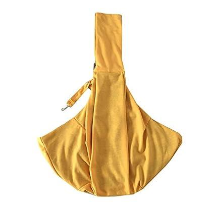 PENIVO Reversible Pet dog Bag Hands Free,Strap Adjustable Sling Carrier Transport bags shoulder bag for small medium… 5