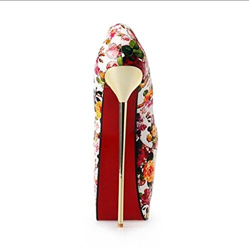 Da donna-Tacchi-Formale Serata e festa-Plateau-A stiletto Plateau-PU (Poliuretano)-Nero Rosso Multicolore Carne multicolor