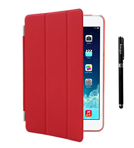 inshang iPad Air Custodia Smart Cover + Cover Posteriore per Apple iPad Air iPad 5, iPad 5th (2013-2014 Released) Custodia Poliuretano Slim più Back Cover Case Logo Pennino di Alta Classe