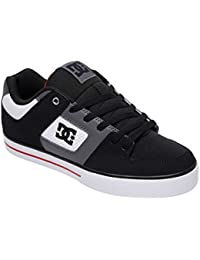 DC Sneaker In Plus Sizes Pure 300660 - White Black Red, Size:12 UK