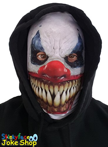 Killer clown horror spaventosa maschera realistico, testa intera, lycra, per halloween
