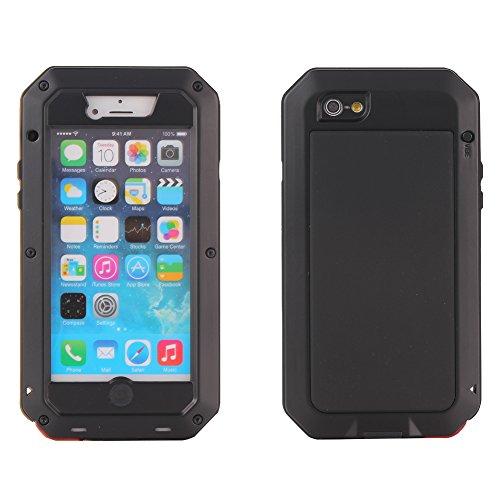 MNBS Phone Coque Etui Housse Antichoc Militaire Heavy Duty Shock Proof Survivor Protective Housse Pour iPhone 6/6SRed Black 2