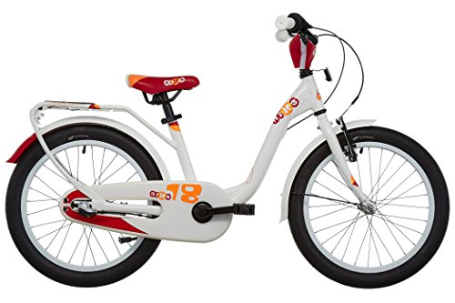 S'COOL Kinder Nixe 18-3 Kinderfahrrad, White/Red, 18 Zoll