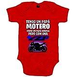 Body bebé tengo un papá motero moto YZF - Rojo, 12-18 meses
