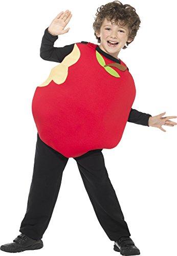 Smiffys, Kinder Unisex Apfel Kostüm mit ärmellosem Oberteil, One Size, 43137 (Roter Apfel Kind Kostüme)