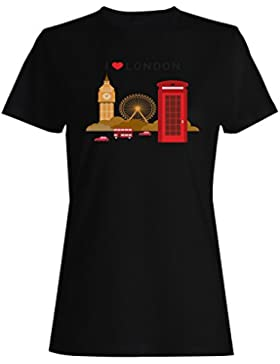 Me encanta London Big Ben Eye Phone tanto camiseta de las mujeres -m35f