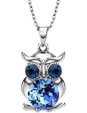 Neoglory Jewellery mit Swarovski® Elements Halskette Eule niedlich und liebevoll Kinder und Damen