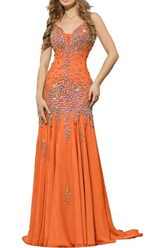 Victory Bridal - Robe - Sirène - Femme Orange