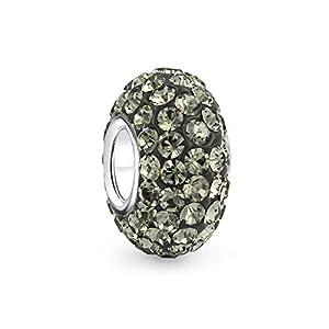 Bling Jewelry 925 Sterling Grau Swarovski Kristall