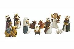 Idea Regalo - Galileo Casa Natività Set Presepe, Poliresina, Multicolore, 3x3x8 cm, 11 Unità