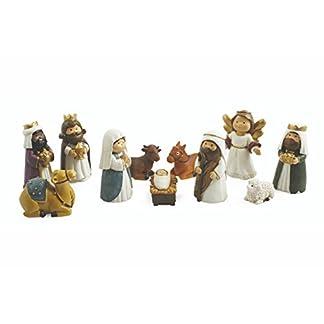 Galileo Casa Natividad Juego de belén, Poliresina, Multicolor, 3x 3x 8cm, 11Unidades