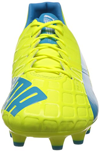 Puma Evospeed 1 4 FG, Chaussures de Football Homme Jaune (Safety Yellow/Atomic Blue/White)