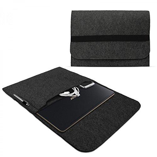 eFabrik Sleeve für Acer Swift 7 Schutzhülle 13.3 Zoll Ultrabook Notebook Tasche Case Soft Cover Schutztasche Sleeve Filz dunkel grau
