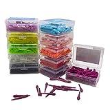 LIOOBO 80pcs Punte di plastica Punte morbide per Freccette elettroniche 2BA Dardo Accessorio Filettatura (Colore Misto)