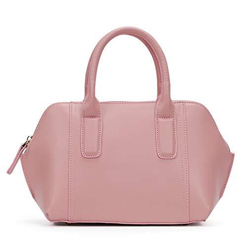 JIA QING Tasche Aus Echtem Leder Einkaufstasche Frau Einkaufen Brieftasche Handtasche Geld Clip Handgemachte Umhängetasche,Pink-onesize - Brieftaschen, Geld Clip Brieftasche