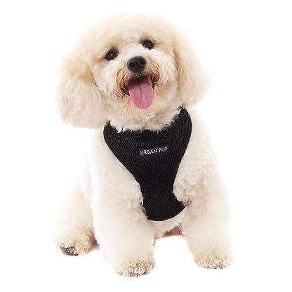 "UrbanPup Jet Black Soft Harness (X-Small - Dog Chest Circumference: 10"" / 25cm) 1"