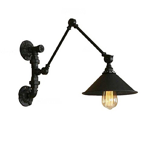 Hines 30 + 30cm Regolabile in ferro Lampada da parete a