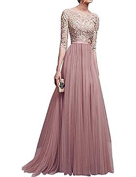 Donna Chiffon Vestito Lungo Abito da Cerimonia Elegante Vestiti da Matrimonio Lunghi Vestito Formale Banchetto...