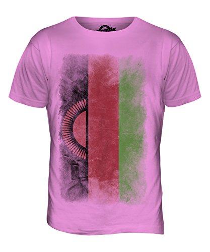 CandyMix Malawi Verblichen Flagge Herren T Shirt Rosa