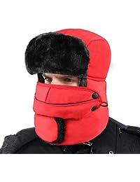 XIAOYAO Gorros de Aviador Impermeable Sombrero de Bombardero de Invierno Mantenerse Cálido Mientras Patinaje, Esquí u Otras…