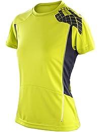 Spiro Mesdames T-shirt d'entraînement s176F Néon Vert citron/gris Taille L