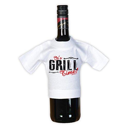 41 JbrSRQiL - Tini - Shirts Griller Sprüche-Tshirt - lustiges Grill-Set - Griller Partyshirt : Grillsport Trainer Schwerpunkt Bauch-Beine-PO - Bekleidung Grillen Grill Zubehör + Mini Flaschenshirt Gr: 3XL