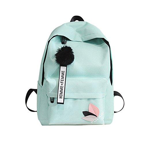 OYSOHE Unisex Rucksack, Mode Neutral Segeltuch Rucksack Tasche Schulter Leinwand Schule Mädchen Junge Handtasche (one size, Grün)