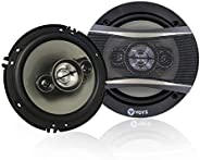 VOYZ VZ-A8635 - One Pair of 375 Watt Car Speakers 6x5 Inches 3 Way - High Performance Mid-Bass Mid-Range and N