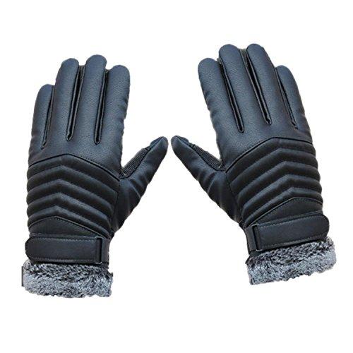 TEAMEN Magie Winter Wärmer Anti-Rutsch Handschuhe mit Touch-Screen Technologie für Outdoor-Sport Männer und Frauen (schwarz, L)