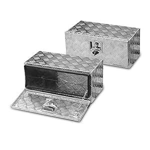 30l unterbaubox aluminium pour remorque de voiture ou camion de v hicules utilitaires bo te de. Black Bedroom Furniture Sets. Home Design Ideas