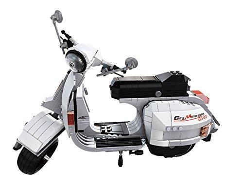 Ladrillos Vespa Modelo Roller Motor Roller, 732Ladrillos, 31x 17x 9cm