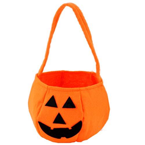 Kakiyi Kinder Schöne Deko Halloween Süßigkeit Sack Halloween-Kürbis-Taschen Non-Woven-Gewebe-Kindertrick oder Taschen Treat (Sack Halloween Maske,)