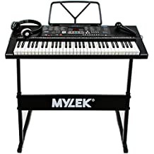 Mylek 61 Key Portable Electronic Musical Teaching Piano Music Keyboard with Stand