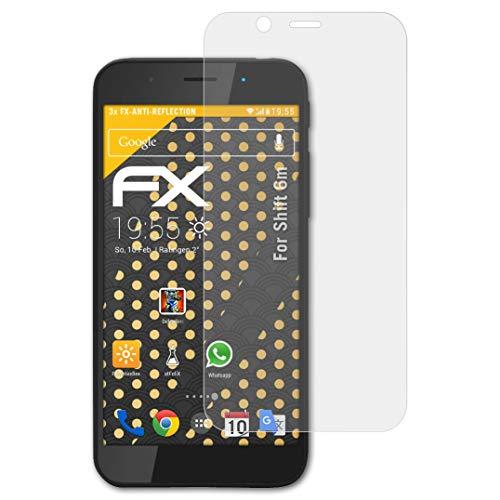 atFolix Panzerfolie kompatibel mit Shift 6m Schutzfolie, entspiegelnde & stoßdämpfende FX Folie (3X)