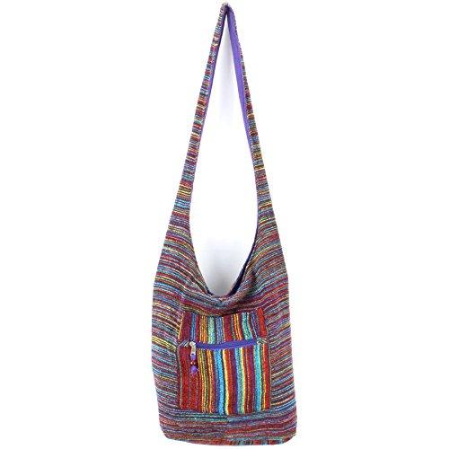 Caravan Soft chenille stripe sling