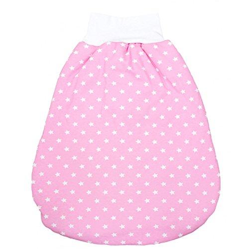 TupTam Baby Unisex Strampelsack mit breitem Bund Wattiert , Farbe: Sternchen Rosa/Weiß, Größe: 6 - 12 Monate (Bund Breiter)