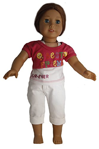 Best Friends Forever Pink and White Outfit for 18 Inch Dolls Like American Girl