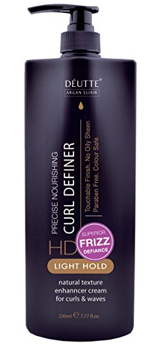 Styling Lockiges Haar (Argan Elixir Locken Creme Definer für Lockiges Haar - Leichte Natürliche Haar Feuchtigkeit Locken Creme 230ml)
