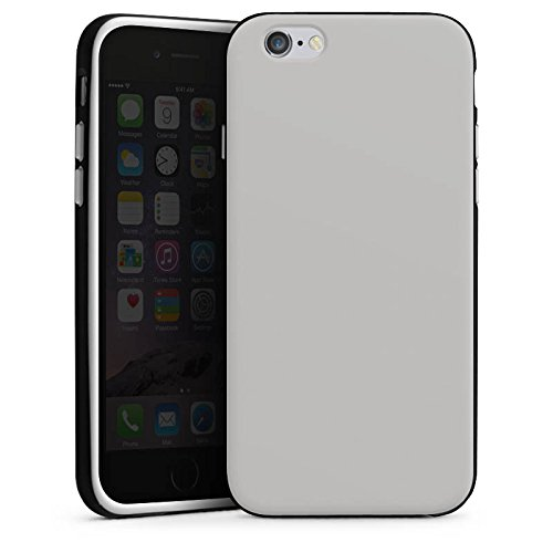 Apple iPhone X Silikon Hülle Case Schutzhülle Graphit Grau Grey Silikon Case schwarz / weiß