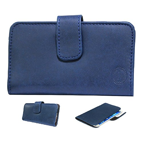 Jo Jo A8 Nillofer Leather Carry Case Cover Pouch Wallet Case For Lenovo S850 Dark Blue  available at amazon for Rs.295
