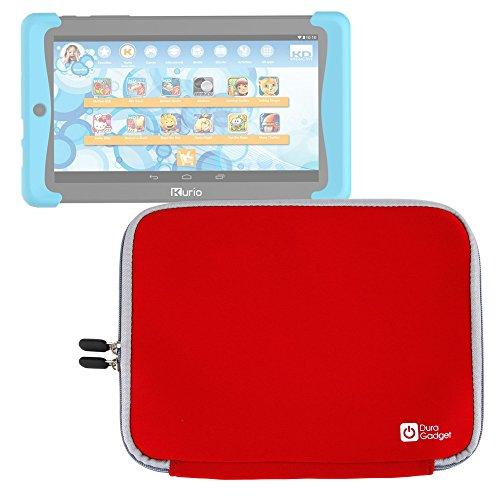 DURAGADGET Funda Roja De Neopreno Para Cefatronic Tablet Clan Pro/Kurio Tab 2   Resistente Al Agua - ¡Perfecta Para La Tablet De Sus Hijos!
