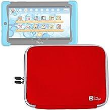 DURAGADGET Funda Roja De Neopreno Para Cefatronic Tablet Clan Pro / Kurio Tab 2 | Resistente Al Agua - ¡Perfecta Para La Tablet De Sus Hijos!