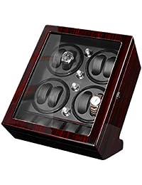 Cajas Giratorias para Relojes Automatico, 5 Programas De Rotación con Madera para Piano Bobinadora para