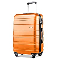 Merax ® Lightweight Hard Shell 4 Wheel Travel Trolley Suitcase Luggage Set Holdall Cabin Case