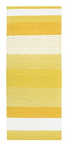 Vallila Interior CM000482-01 Itäkylä handgewebter Teppichläufer, Baumwolle, 80 x 150 x 10 cm, gelb