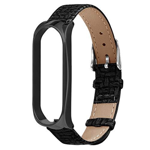 TianranRT Gewebt muster ersatz handgelenk gurt leder armband für xiaomi mi band3watch (A)