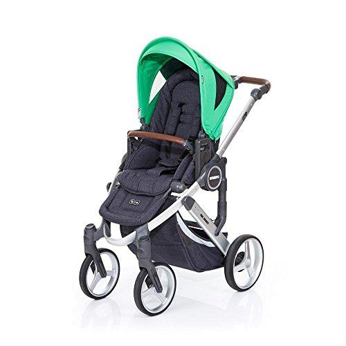 ABC Design 61250608Mamba PLUS Kinderwagen auf vier Rädern, Graphite Grey/Grass