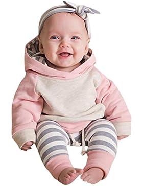 Omiky® 3pcs Kleinkind-Baby-Mädchen-Kleidung stellte Hoodie Tops + Hosen + Stirnband-Ausstattungen ein