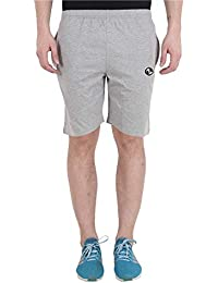 SHELLOCKS Men's Solid Grey Cotton, Regular Fit, Casual, Fit Bermuda