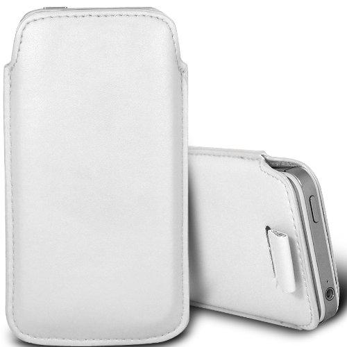 Brun/Brown - Xiaomi Mi 2A Housse deuxième peau et étui de protection en cuir PU de qualité supérieure à cordon avec stylet tactile par Gadget Giant® Blanc/White